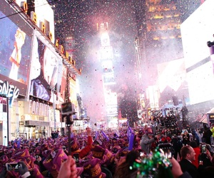 new years, new york, and time square image