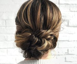 bun, updo hair, and classic image