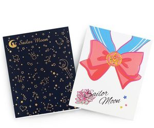 notebook, sailor moon, and school supplies image