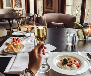 food, champagne, and luxury image