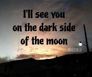 dark side, moon, and Pink Floyd image