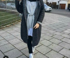 hijab winter fashion image