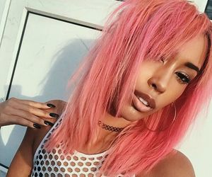 dyed hair, fashion, and pink hair image