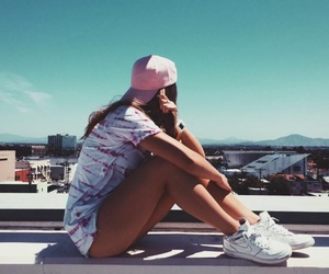 city, girl, and view image