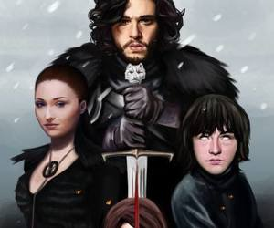 stark, game of thrones, and got image