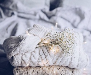 light, sweater, and christmas image