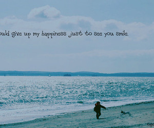 beach, happiness, and quote image