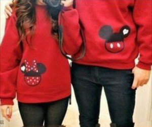 couple, mickey, and red image