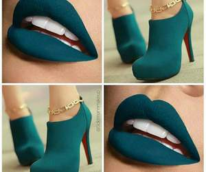 beauty, lips, and shoes image