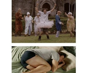 bed, crazy, and funny image