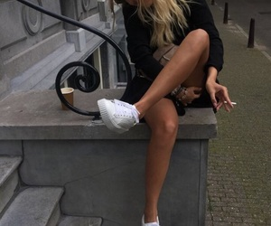 blond, stairs, and tan image