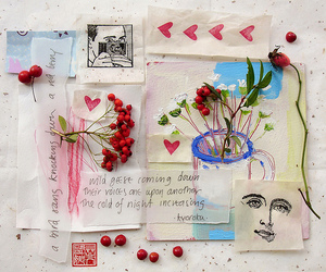 berry, flower, and scrapbook image