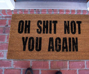 doormat, funny, and enemy image