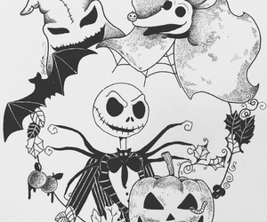 art, jack skellington, and skeleton image