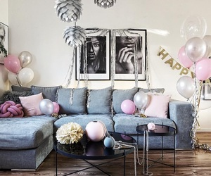 art, balloons, and celebrate image