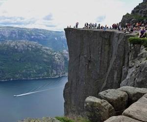 norway, preikestolen, and Pulpit Rock image