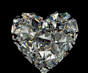 heart, diamond, and wallpaper image
