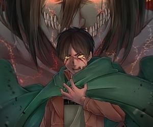 attack on titan, shingeki no kyoujin, and eren image