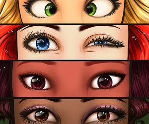 princess, eyes, and disney image