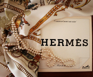 hermes, fashion, and pearls image