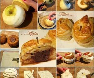 dulce, manzana, and paso a paso image