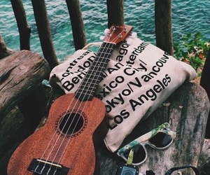 guitar, summer, and music image