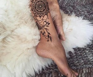 tattoo, mandala, and art image