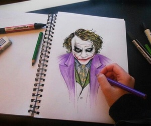 joker, drawing, and art image