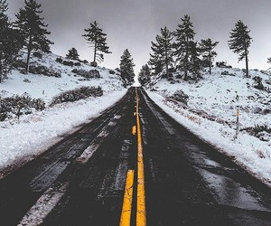 road and snow image