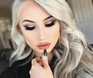eyelashes, eyeshadow, and makeup image