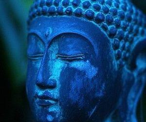 blue and Buddha image