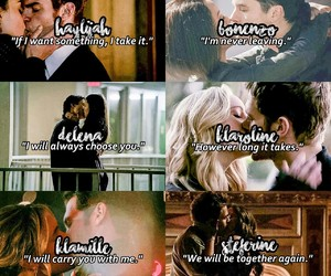 the vampire diaries, delena, and steferine image