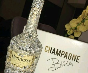 bottle, champagne, and diamond image
