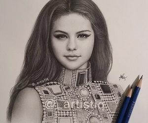 selena gomez, draw, and art image