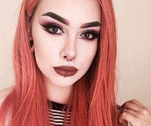 alternative, pink hair, and inked image