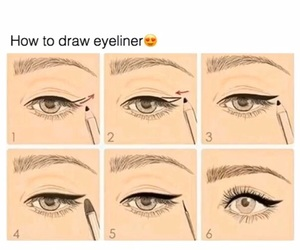 cat eye, eyeliner, and how to image