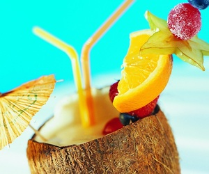 coconut, drinks, and summer image