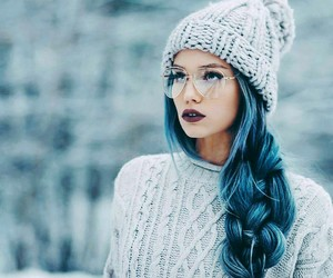 beauty, blue, and fashion image