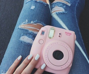 pink, jeans, and nails image