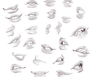 art, lips, and tutorial image
