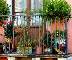 balcony, flower, and garden image