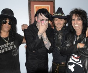 johnny depp, Marilyn Manson, and alice cooper image