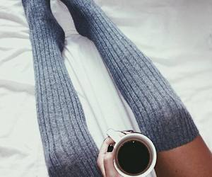 bed, coffee, and drink image