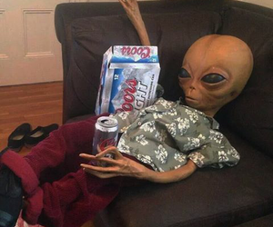 aliens, beer, and cool image