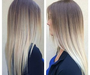 blonde, hair, and ombre image