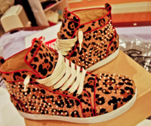 shoes, sneakers, and leopard image