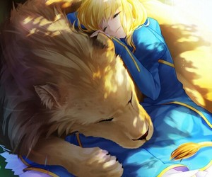 anime girl, saber, and cute image