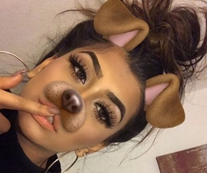 snapchat, girl, and makeup image