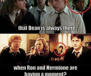 harry potter, funny, and dean image