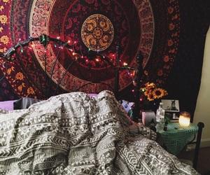 bedroom, boho, and tumblr image